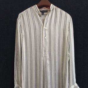 Ralph Lauren Black Label Stripe Silk Shirt Dress 2